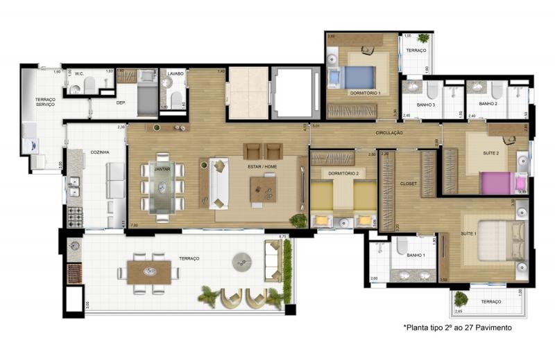 Apartamento de 170 m²