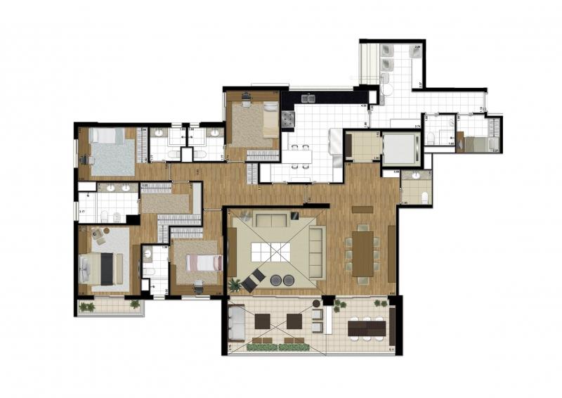 Apartamento de 238 m²