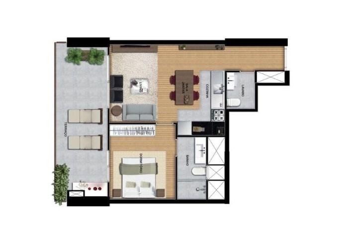 Apartamento de 67 m²