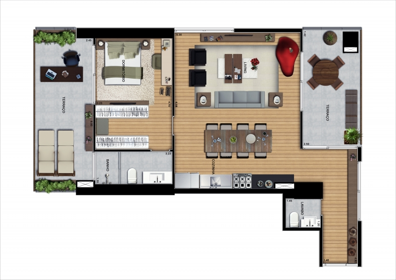 Apartamento Duplex de 138m²