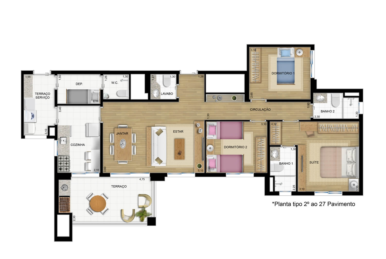 Apartamento de 106 m²